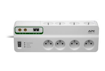 APC Přepěťová ochrana - 8 zásuvek (230V), Ochrana - Telefonní a TV/coax linky