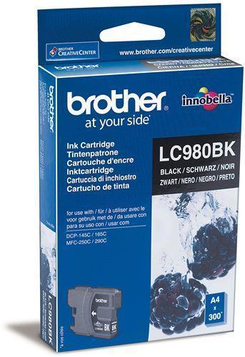 BROTHER LC-980Bk černá náplň pro DCP-145C,165C, MFC250C, 290C, 300str.@5%