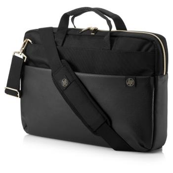 HP Pavilion Accent Briefcase 15 Black/Gold, brašna na notebook 4QF94AA