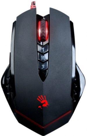 Myš A4tech BLOODY V8, HoleLess technologie, CORE 3, USB, kovové podložky